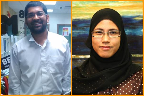From left: Aston Paiva, Fatihah Jamhari