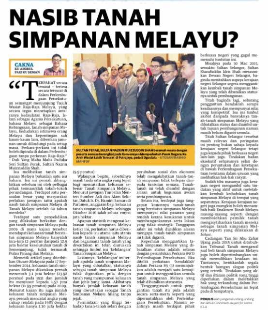 Cakna Nasib Tanah Simpanan Melayu.jpg